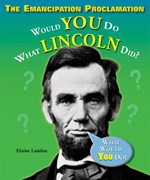 """<h2><a href=""""http://www.bluewaveclassroom.com/books/The_Emancipation_Proclamation/3805"""">The Emancipation Proclamation: <i>Would You Do What Lincoln Did?</i></a></h2>"""