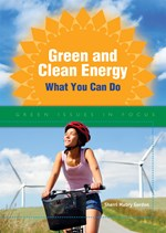 "<h2><a href=""http://www.enslow.com/books/Green_and_Clean_Energy/1538"">Green and Clean Energy: <i>What You Can Do</i></a></h2>"