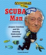 "<h2><a href=""http://www.enslow.com/books/SCUBA_Man/4084"">SCUBA Man: <i>Jacques Cousteau and His Amazing Underwater Invention</i></a></h2>"